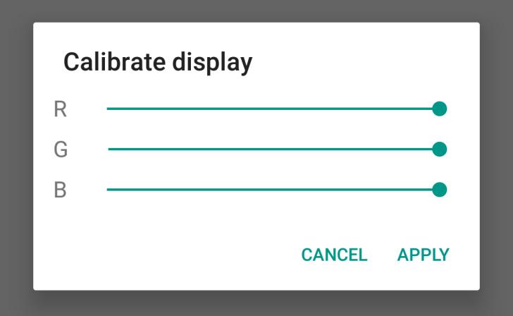 Android N новые возможности - Калибровка цветового баланса дисплея