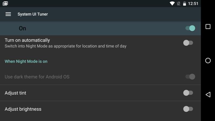 Android N новые возможности - Ночной режим