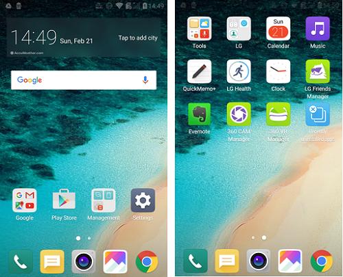 LG G5-интерфейс скриншот 1