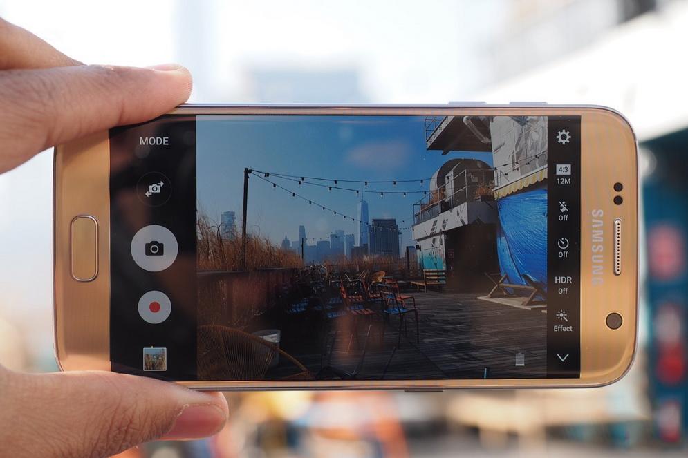 Samsung Galaxy S7-съемка