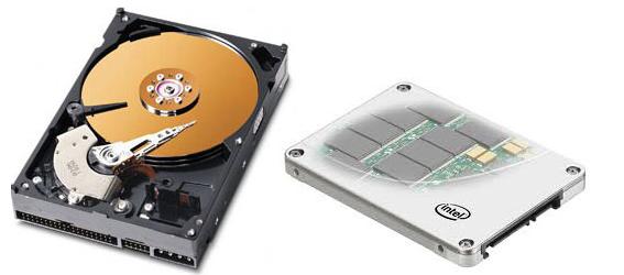 Жесткий диск и SSD-накопитель 1