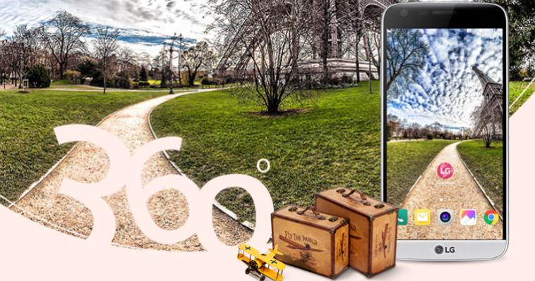360-градусные обои LG G5 – новое ощущение виртуальной реальности