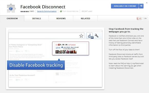 5 приложений и плагинов для Facebook, о которых не все знают - Disconnect MeButton