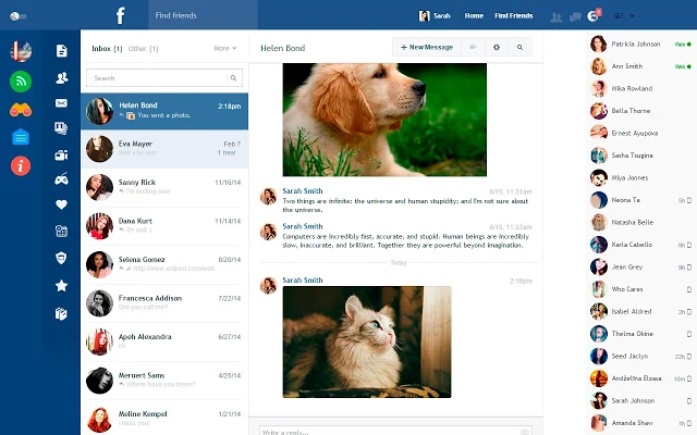 5 приложений и плагинов для Facebook, о которых не все знают - Facebook Flat