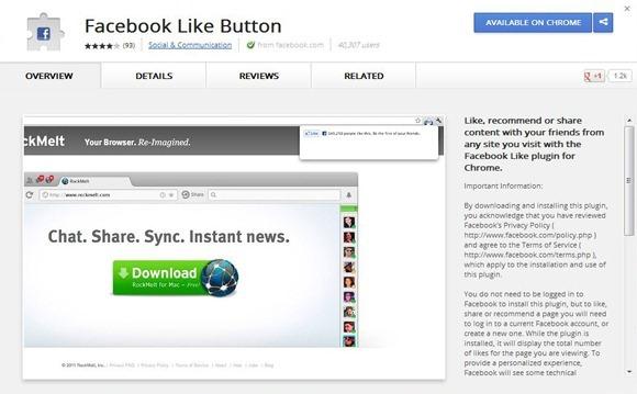 5 приложений и плагинов для Facebook, о которых не все знают - Facebook Like Button