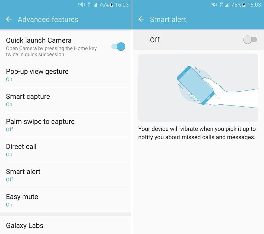 8 секретов Samsung Galaxy S7 and S7 Edge - смарт-уведомления