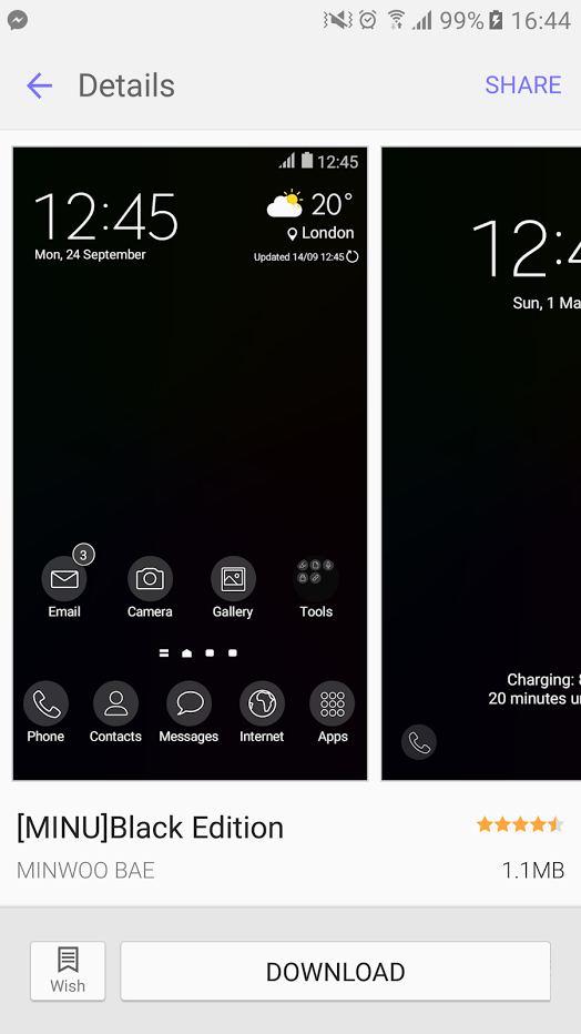 msung Galaxy S7 and S7 Edge - темная тема 1