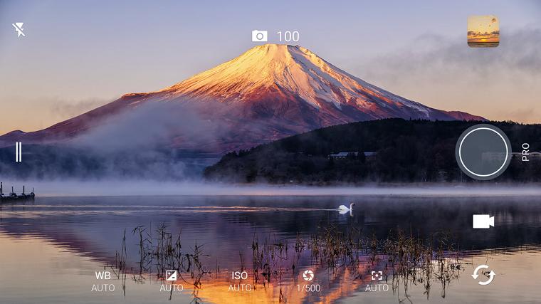 HTC 10 интерфейс камеры