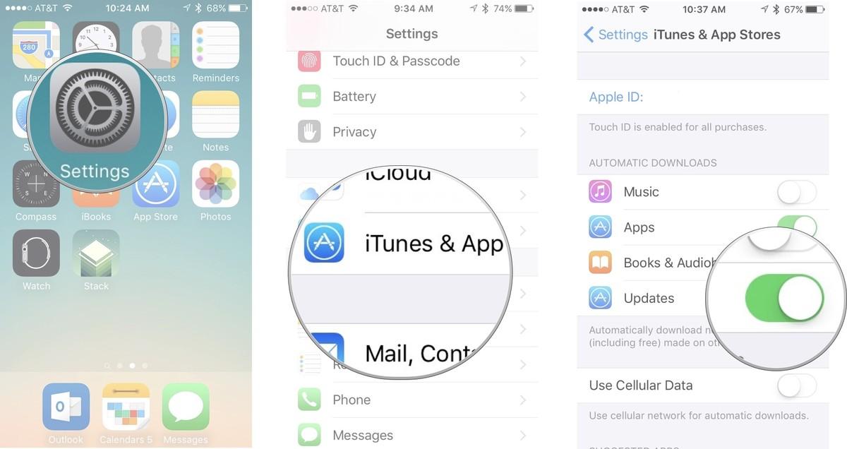 Как устанавливать приложения и игры на iPhone и iPad - Автоматическое обновление
