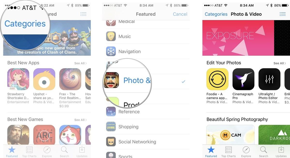 Как устанавливать приложения и игры на iPhone и iPad - Поиск по категориям