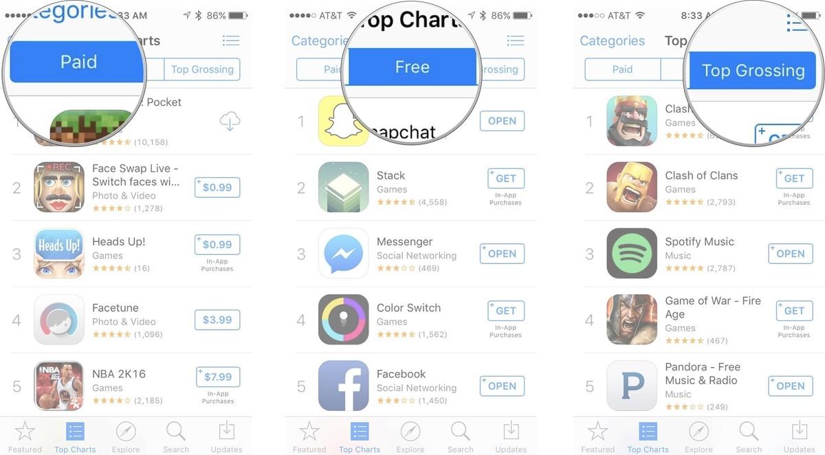 Как устанавливать приложения и игры на iPhone и iPad - Топ-чарты