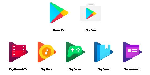 Компания Google обновила дизайн иконок для своих сервисов Google Play
