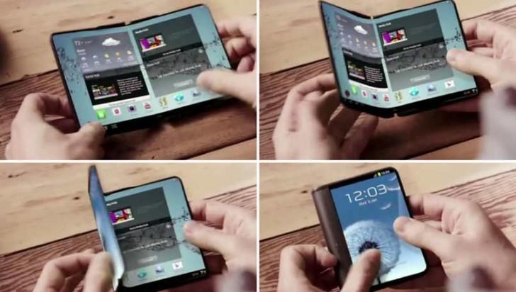 В 2017 году Samsung представит смартфон с раскладывающимся экраном