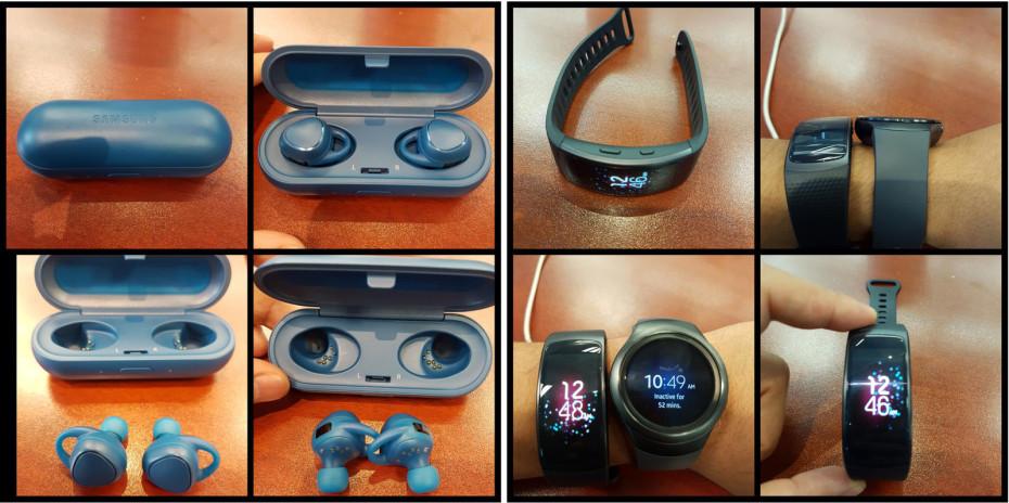 В сеть утекли фото Samsung Gear Fit 2 и Bluetooth-наушников IconX