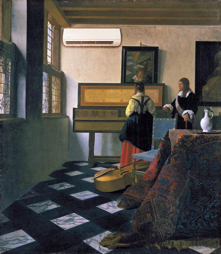 Ян Вермер «Урок музики», 1662-1665