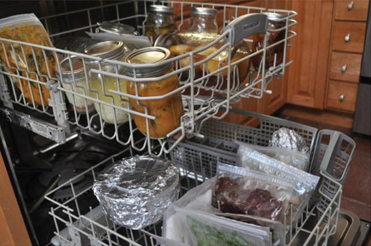 еда в посудомоечной машине