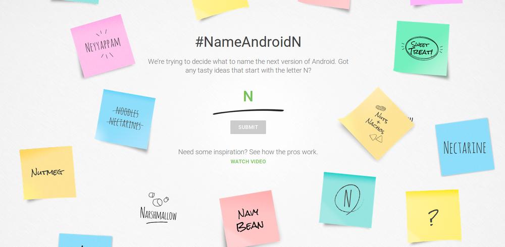 Android N-предложения финального названия