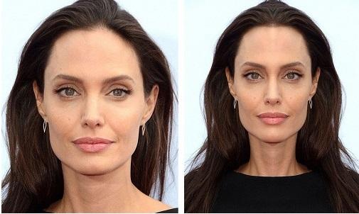 Анджелина Джоли-лицо