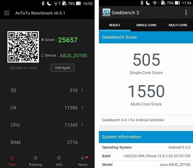 Asus Zenfone Max ZC550KL-производительность +
