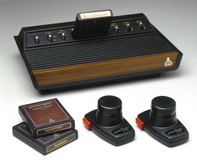 Atari computer console and games, c 1977.