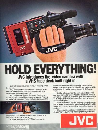 JVC VideoMovie-реклама видеокамеры