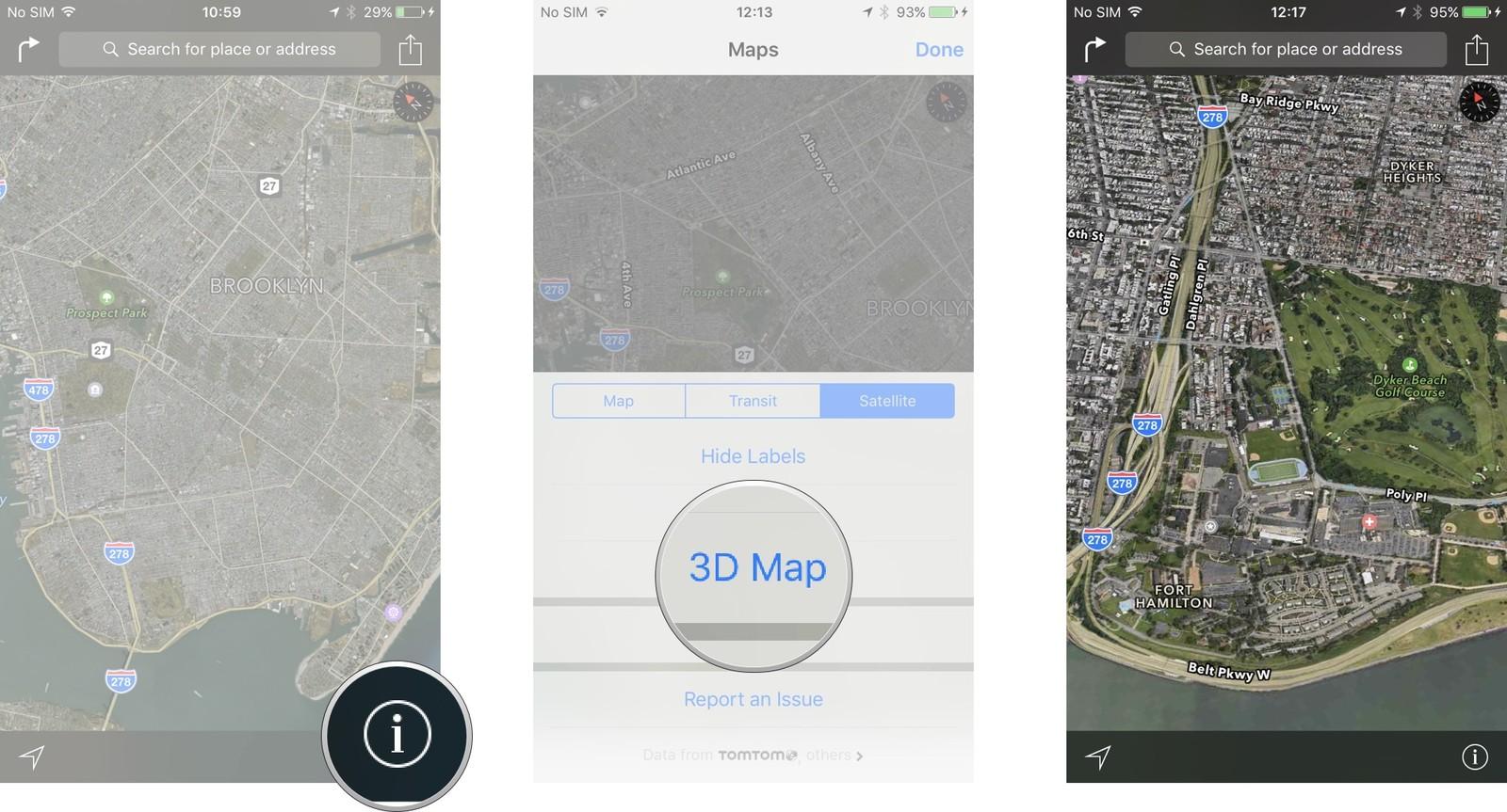 Как пользоваться Картами на iPhone и iPad - 3D-карта