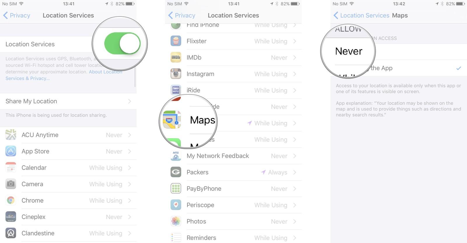 Как пользоваться Картами на iPhone и iPad - Как пользоваться Картами на iPhone и iPad - Вкл-выкл отслеживания местоположения