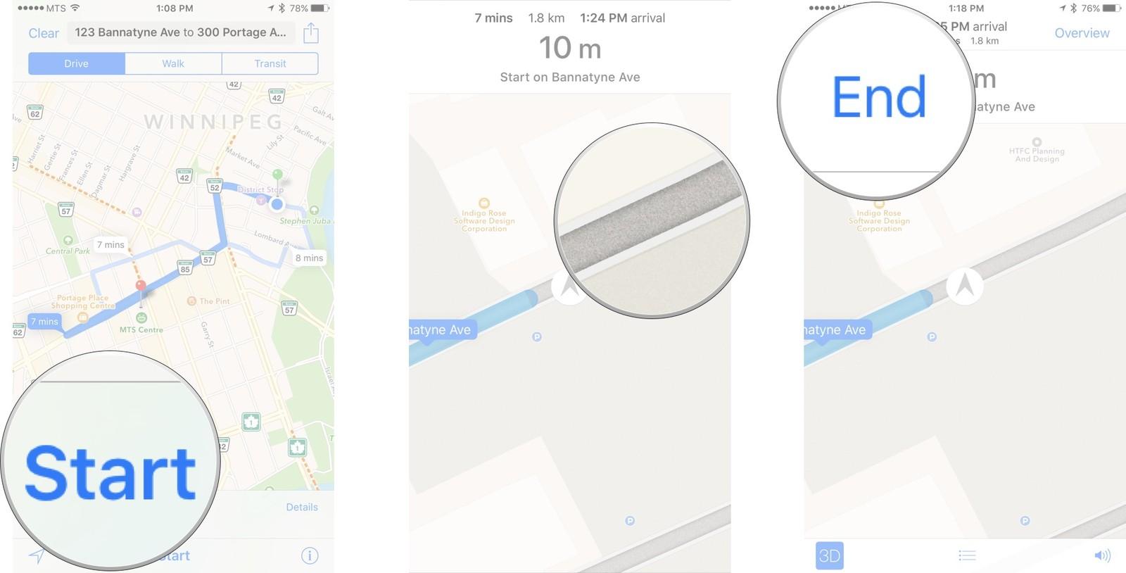 Как пользоваться Картами на iPhone и iPad - Отключить голосовые указания