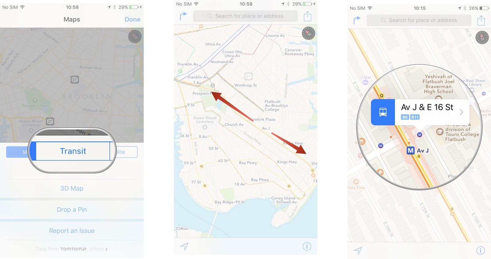 Как пользоваться Картами на iPhone и iPad - Отследить движение транспорта