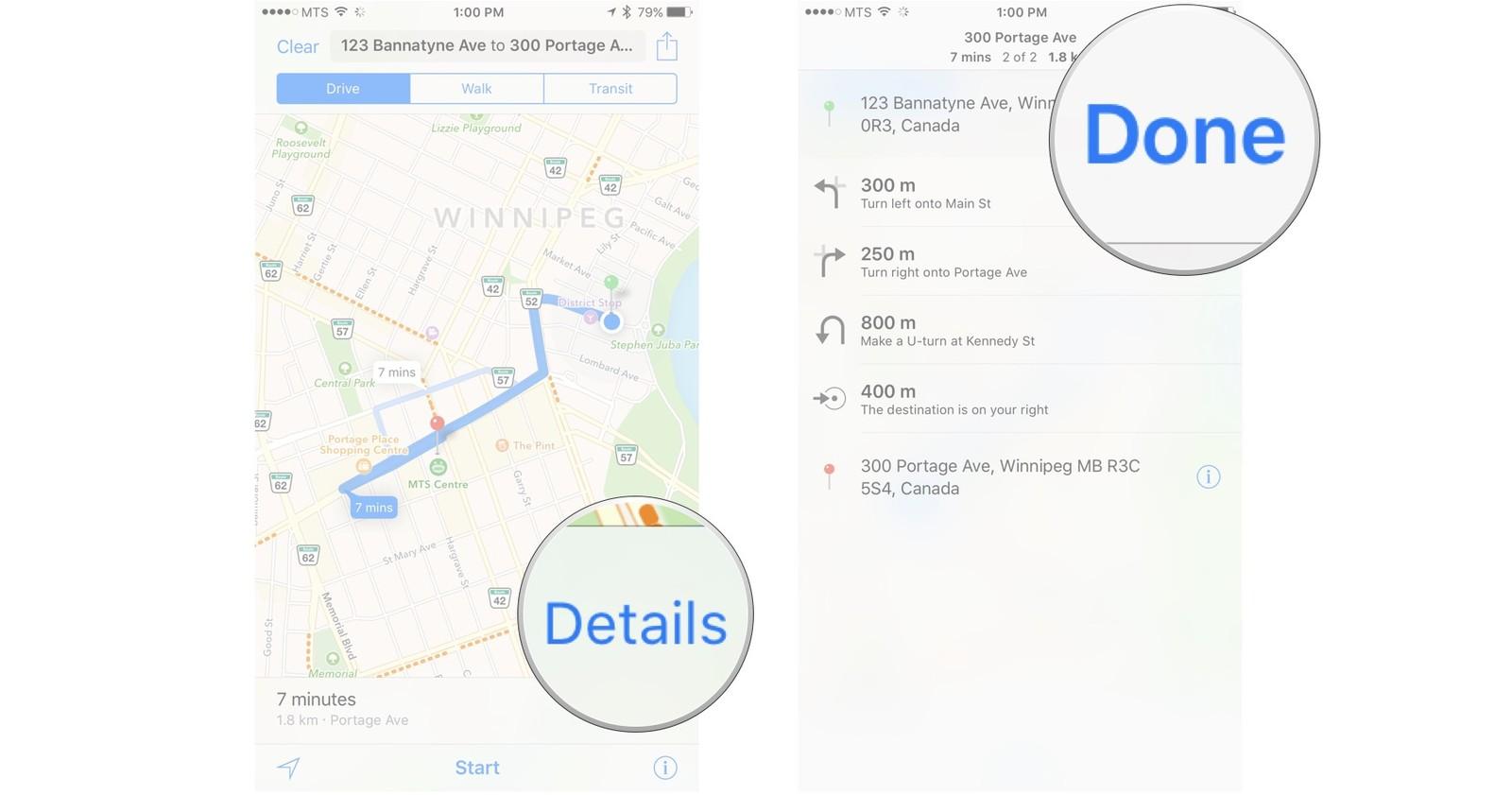 Как пользоваться Картами на iPhone и iPad - Просмотр текстовых комментариев