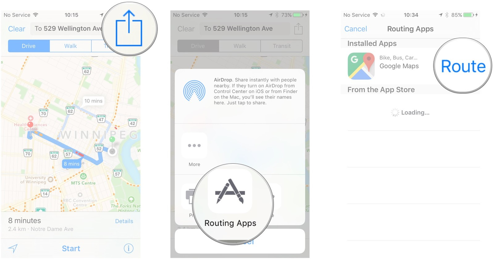 Как пользоваться Картами на iPhone и iPad - Создание маршрута в Гугл Картах