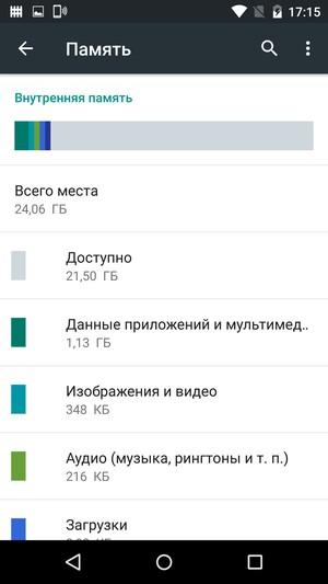 Motorola Moto X Force- Встроенная память
