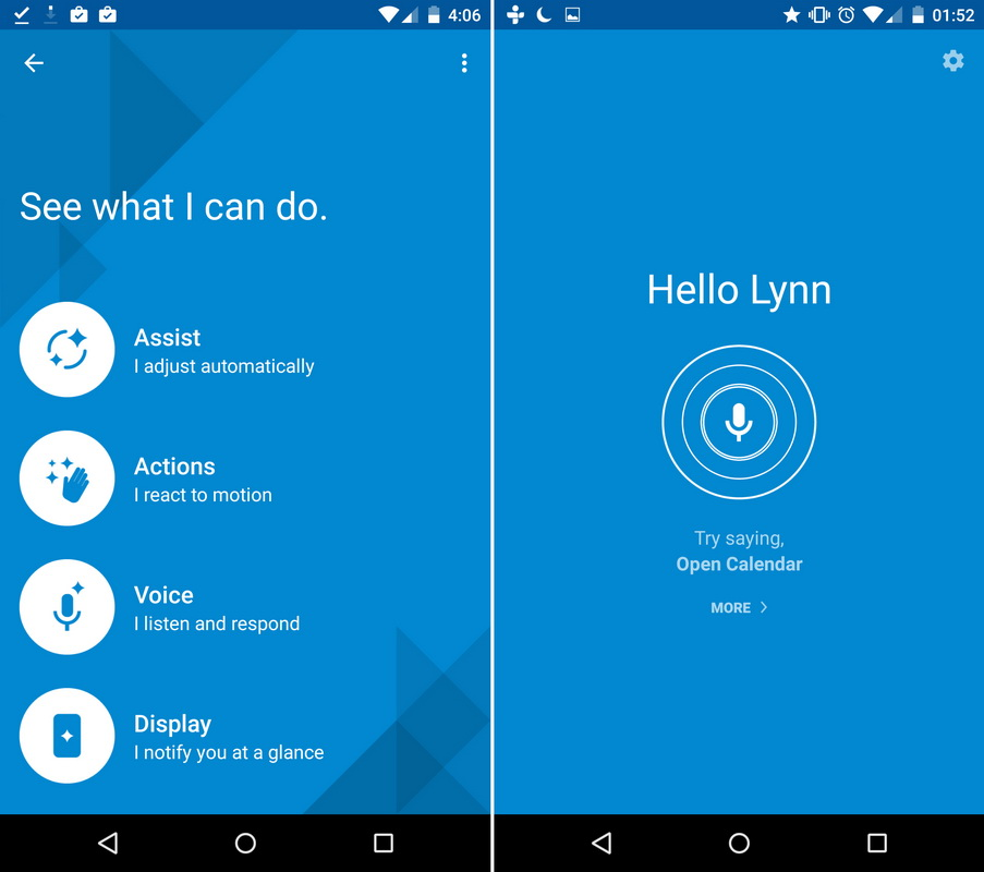 Motorola Moto X Style-интерфейс скриншот 1