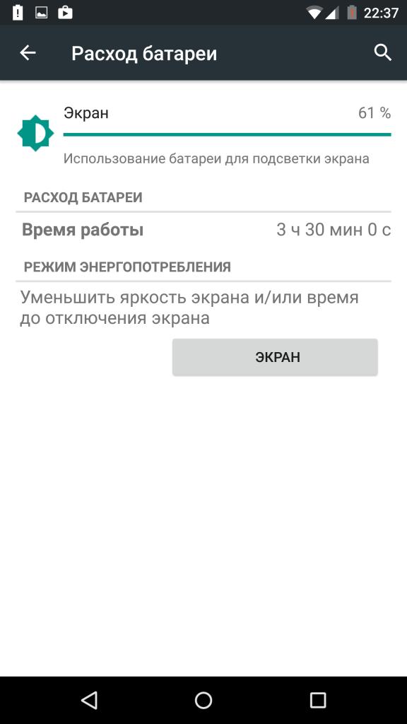 Motorola Moto X Style-расход энергии аккумулятора