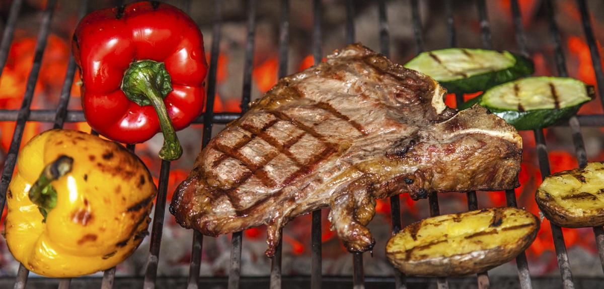 Мясо и овощи на гриле-рецепты для пикника