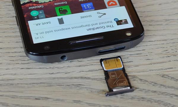 Папка «Фото», Motorola Moto X Force- Слот для карты памяти и сим-карты
