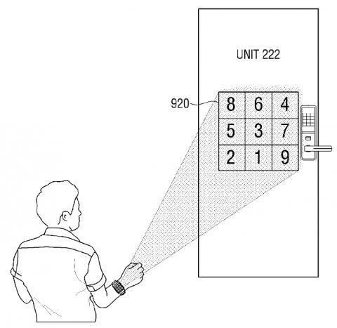 Samsung патентует смарт-часы со встроенным проектором - схема
