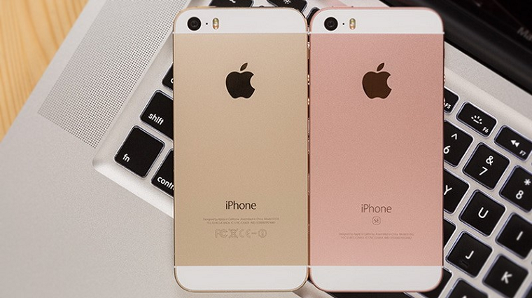 фото iPhone SE Rose Gold-задняя панель