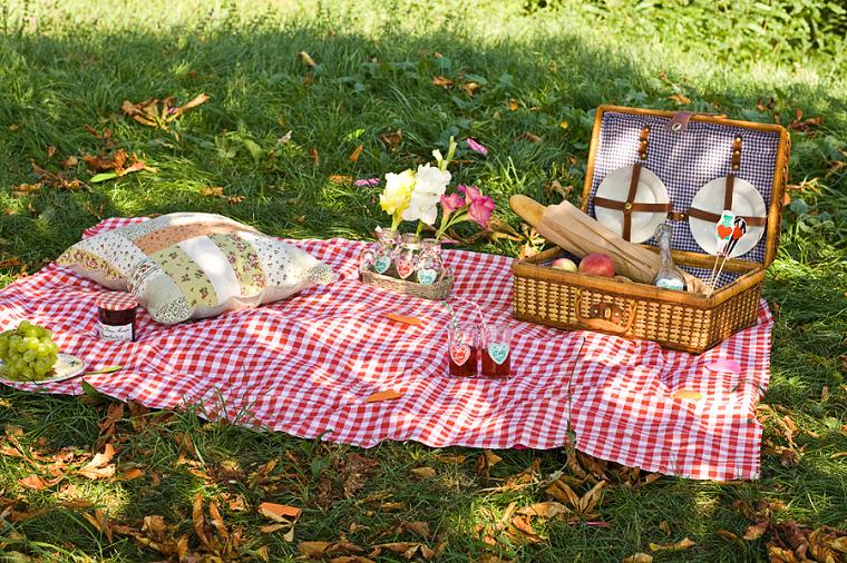 пикник с набором посуды