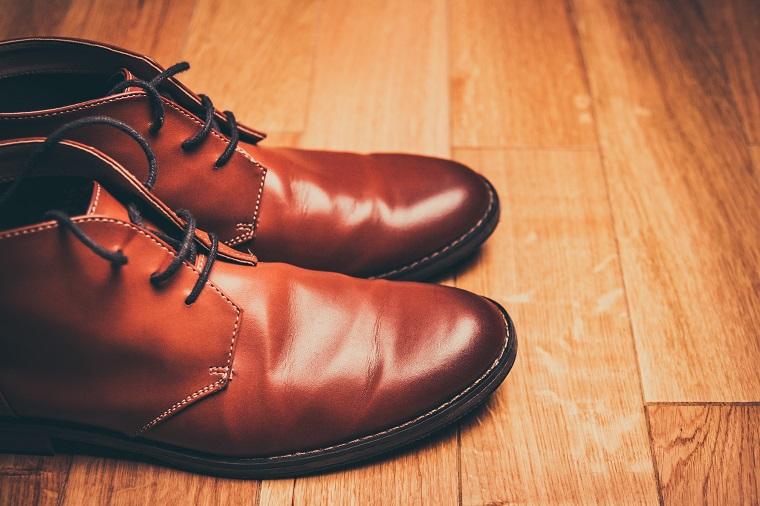 почищенная обувь