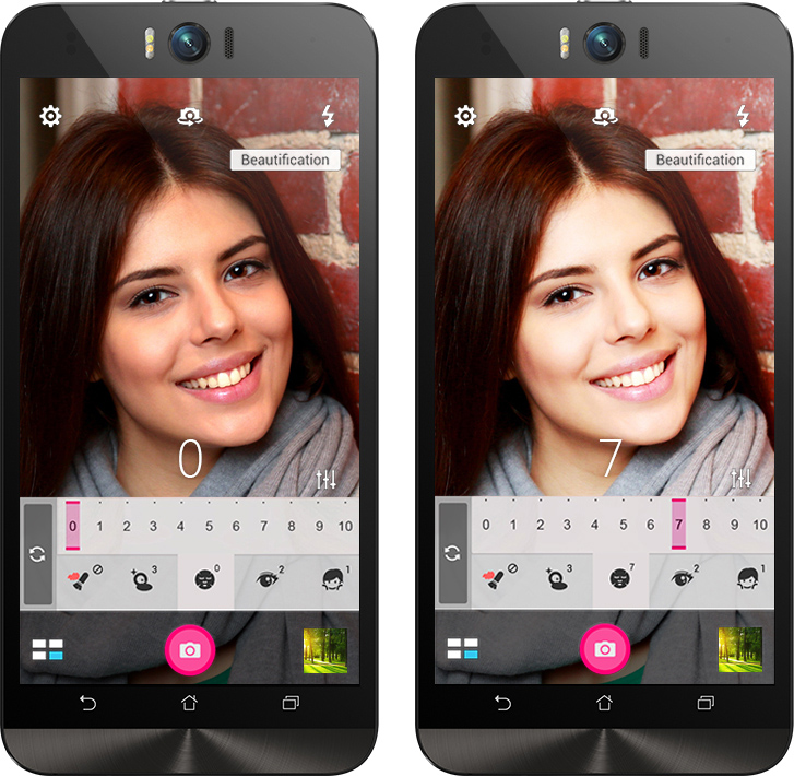 ASUS ZenFone Selfie (ZD551KL)-Функция улучшения портретов