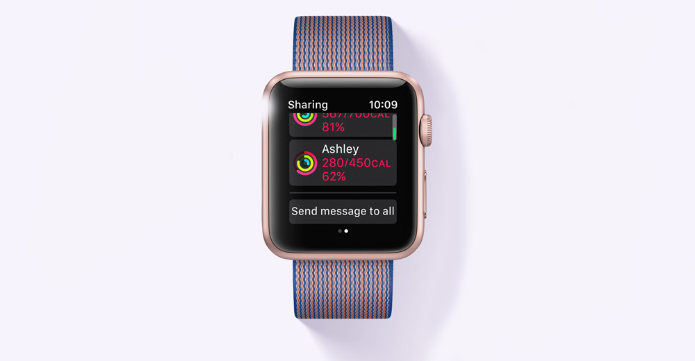Apple WWDC 2016-WatchOS 3 приложение Activities