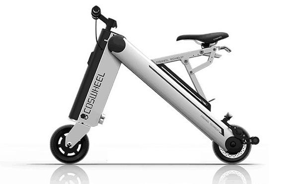 Coswheel представила суперкомпактный электрический скутер A-One 1