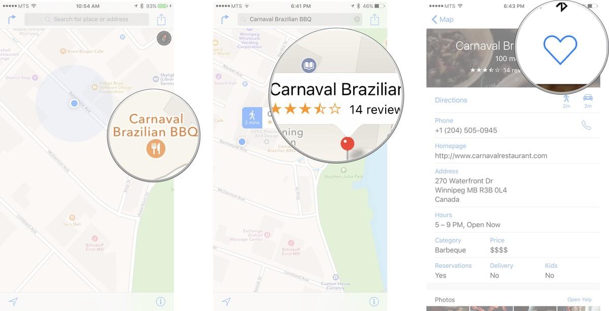 Как пользоваться Картами на iPhone и iPad - Добавить место в избранное