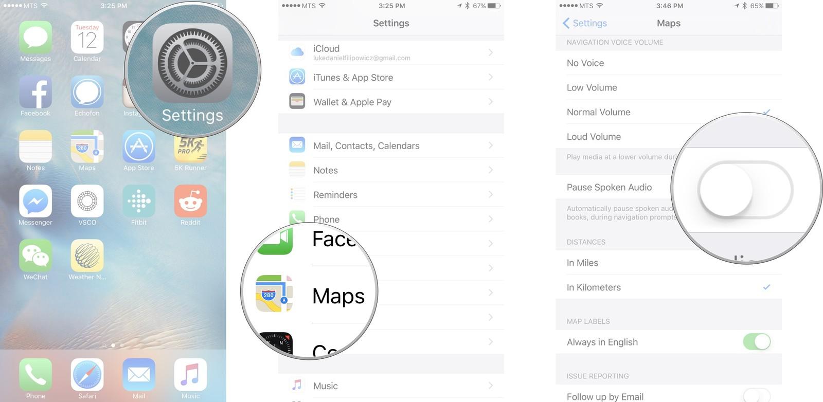 Как пользоваться Картами на iPhone и iPad - Приостановить проигрывание аудио