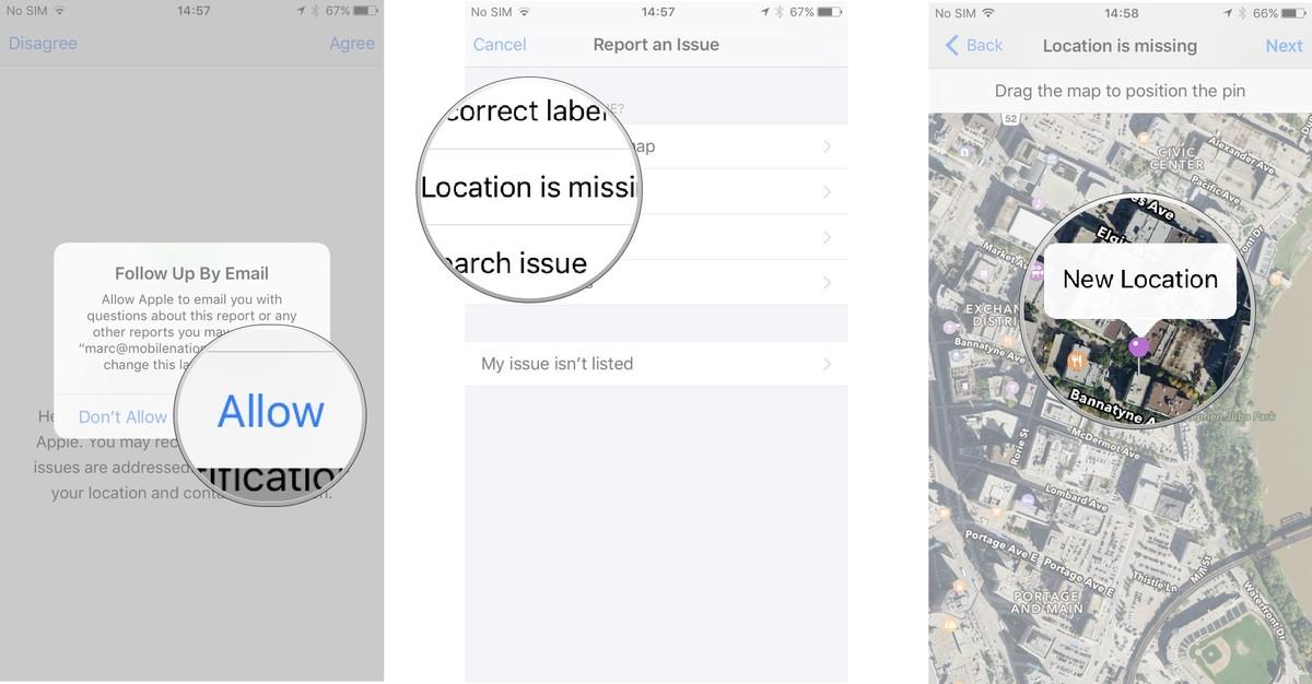 Как пользоваться Картами на iPhone и iPad - Установка метки на недостающем месте