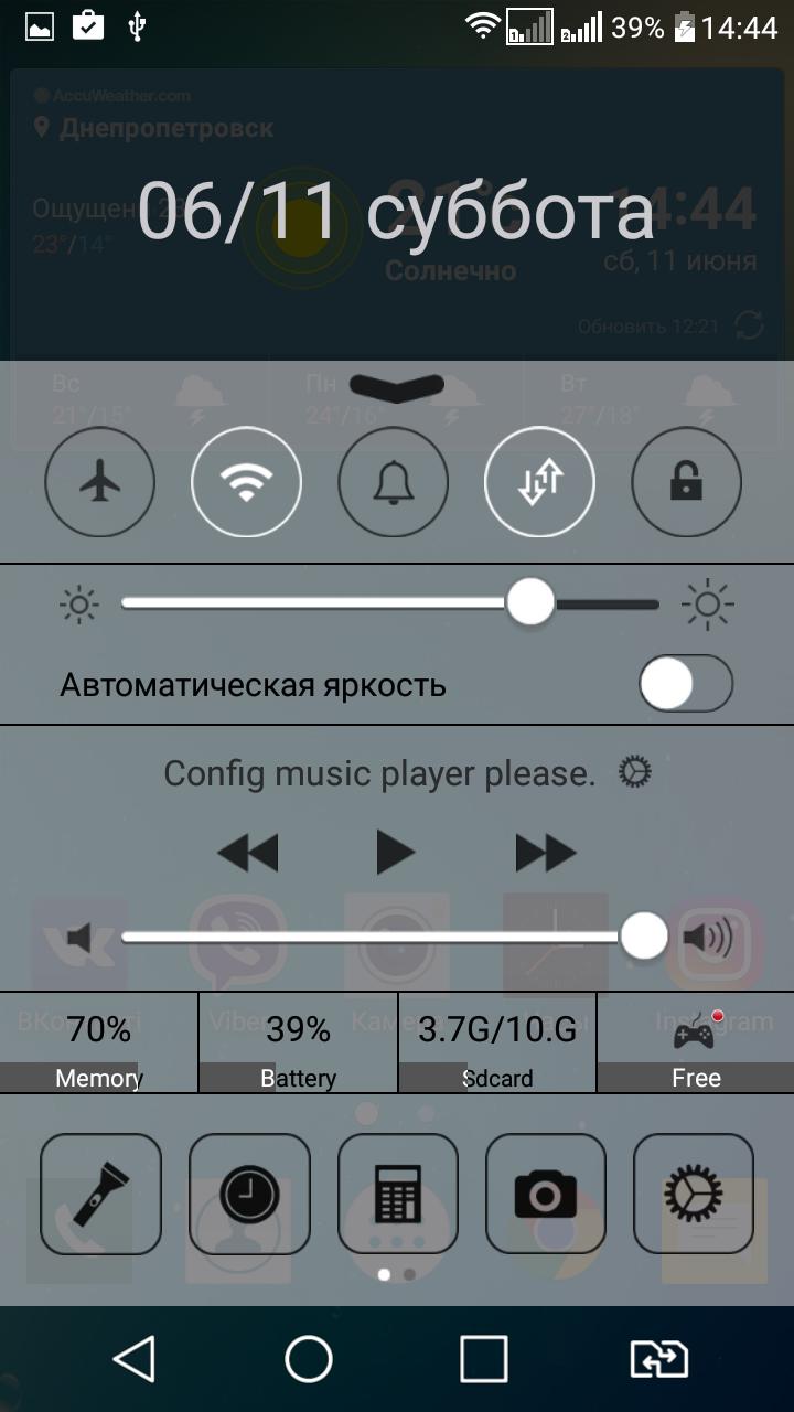 Как сделать так, чтобы ваш Android-смартфон выглядел, как iPhone - панель