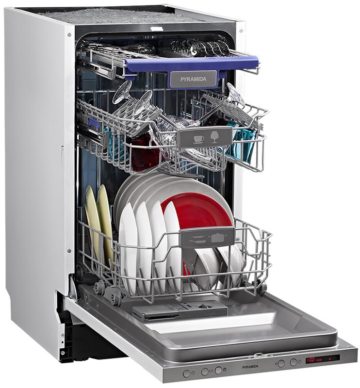 Обзор посудомоечной машины Pyramida DP 10 Premium - DP 10 Premium полностью загружена