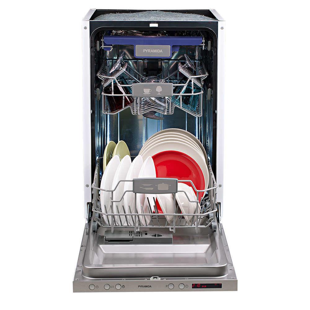 Обзор посудомоечной машины Pyramida DP 10 Premium - DP 10 Premium загружена тарелками
