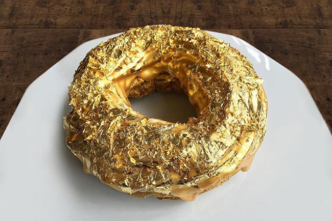 Пончик-из съедобного золота